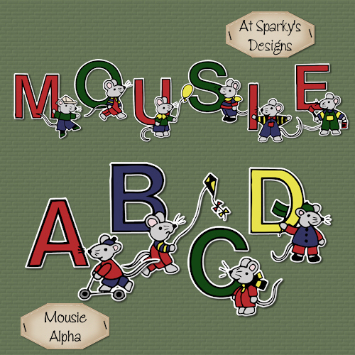 Mousie Alpha Freebie and Tutorial